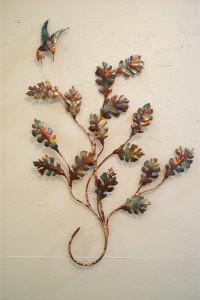 """Oak leaf branch - approx. 22"""" x 26"""" - 575."""